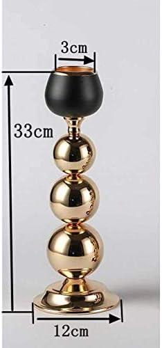 クリスマスキャンドルホルダーファッション1軽金属ゴールドキャンドルスタンドローソク足ウェディングスタンド装飾家の装飾、H33Cmのためのモダンなランタン