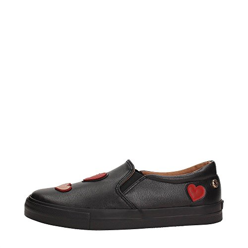 2641f66df Love Moschino Women s Heart Accent Black Loafers Shoes hot sale ...