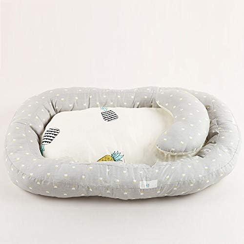 Cozyhoma Chaise longue et nid de b/éb/é lavable en coton portable pour b/éb/é Lit de cododo amovible et pliable pour nouveau-n/é pour se d/étendre et faire la sieste et les voyages