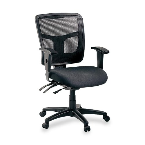 (Lorell 86201 Ergomesh Chair, Mesh Back/Black Fabric Seat)