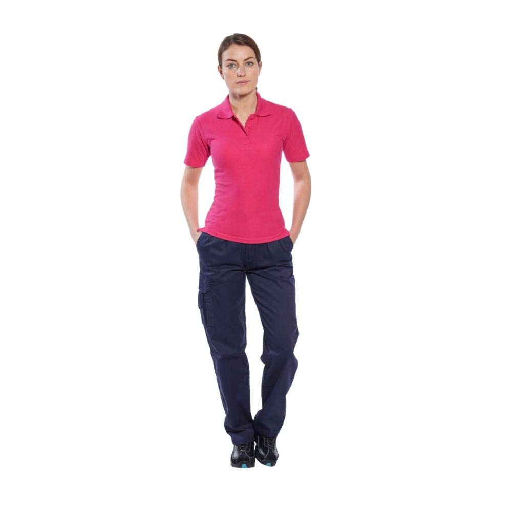 Portwest Workwear Ladies Polo Camiseta - B209 - EU/UK, oxB209-BLEU ...