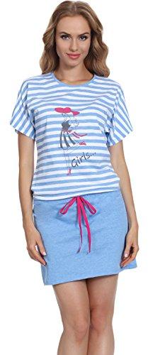Blu Ms10 Merry Notte Da amaranth 103 Camicia Donna Style qq60g