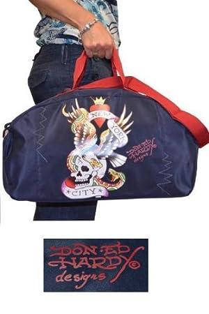419f1928e2df Ed Hardy New York Duffle bag Navy Blue  Amazon.co.uk  Luggage