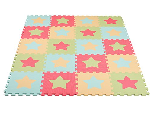 Baby's Best Products Star Series Extra-Thick, Non-Toxic Play Mat (Pastel) Review