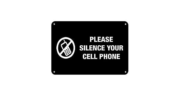 Amazon.com: Por favor Silencio yuour teléfono celular no ...