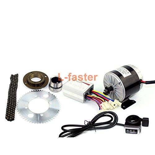24v36v 350ワットモーターキット電動gokartエンジンシステムでガスペダル電気子バイク変換キットdiy電動4-wheelsカート [並行輸入品] B07BVC6CJ1 36V thumb kit 36V thumb kit