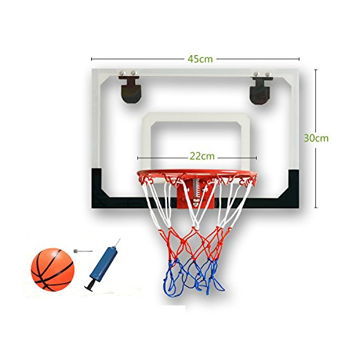 Zinnor Mini Basketball Hoop Shatterproof Backboard Indoor Shooting Goal System Over The Door Ball Portable Sports Set Tool by Zinnor