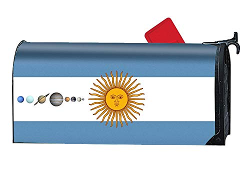 (JuLeFan Solar System Argentina Flag Mailbox Makeover Decorative Printed Magnetic Cover for Large Mailboxes)