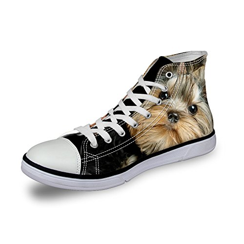 Per Te Disegni Simpatici Cagnolini Scarpe Stringate Per Cani Alte 11 Sneaker Flat 11