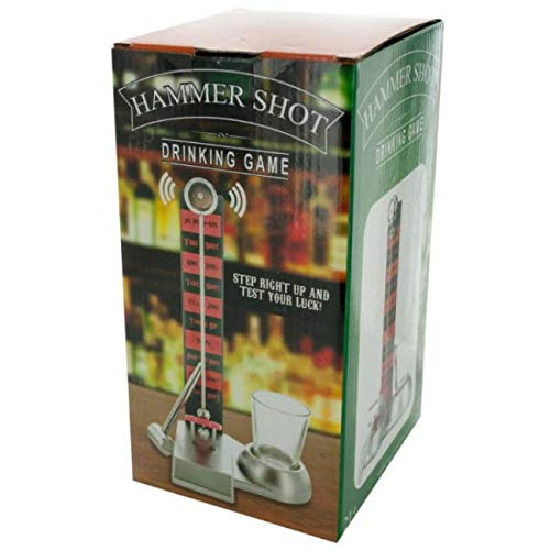 The Wholesale Shop Pack of 2 Silver Hammer Shot Drinking Game by The Wholesale Shop