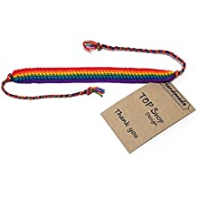 Handmade Men's Women's Rainbow Cord Bracelet Plaided Hippie Cotton Braided Gay Pride Wristband
