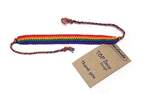 Handmade Men's Women's Rainbow Cord Bracelet Plaided Hippie Cotton Braided Gay Pride - Rainbow Butterfly Bracelet