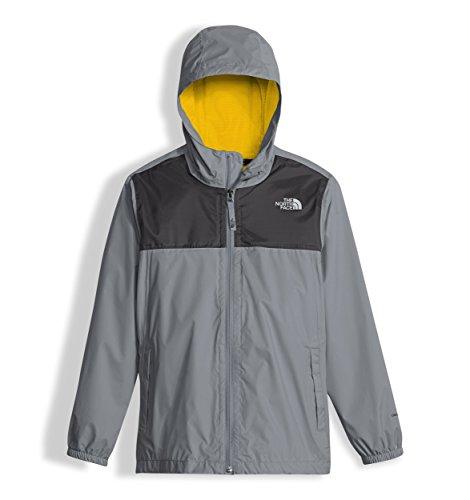 The North Face Boy's Zipline Rain Jacket - Mid Grey - S