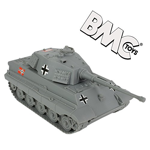 - BMC WWII Gray German King Tiger Toy Tank 1:32 Scale for 54mm Army Men Soldier Figures