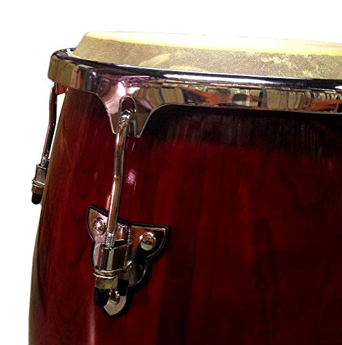 Conga DRUM 11'' + STAND - RED WINE -World Percussion NEW! by Unknown (Image #1)
