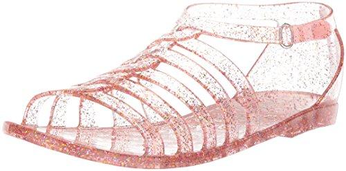 The Children's Place Girls' BG Jelly Gladiat Flat Sandal, Light Pink, Youth 11 Medium US Big Kid (Pink Youth Sandals Girls)