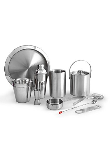 King International Stainless Steel Plain Bar Set | Bar ToolsSet of 11 Pieces Price & Reviews