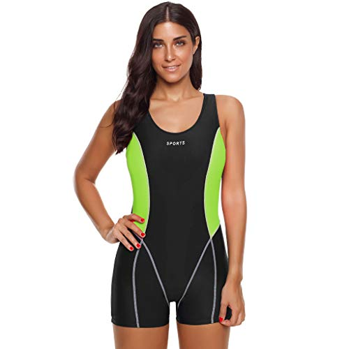 Women Fashion Quick-Drying Surfing Swimwear Sports One Piece Shorts Swimsuit Swimsuits Under 10 Dollars for Teens Green ()