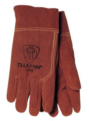 Tillman Large Russet Brown Shoulder Split Cowhide Economy Grade Heavy Duty MIG Welders Gloves With Straight Thumb, 2'' Cuff, Seamless Forefinger And Kevlar Lock Stitching
