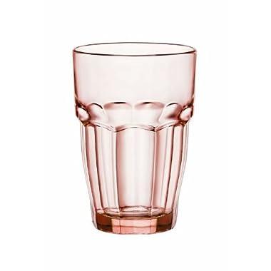 Bormioli Rocco 12.5 oz. Rock Bar Lounge Stackable Long Drink Glass, Peach, Set of 6