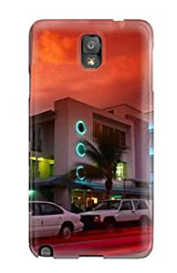 New Arrival Premium Note 3 Case Cover For Galaxy (city Skyline )