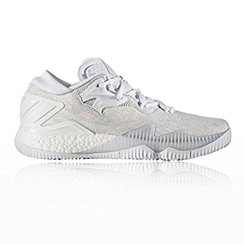 adidas Crazylight Boost Low 2016, Scarpe da Basket Uomo Bianco (Ftwbla/Ftwbla/Gricla)