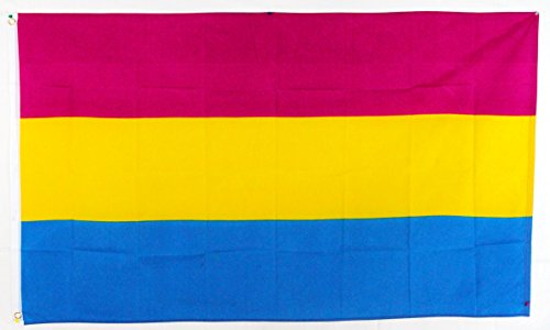 Flags Importer Pansexual Flag 3x5 Feet Polyester Gay Pride, Pink, Yellow, Blue