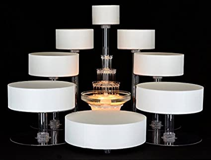 Amazon.com | platinumcakeware 8 Tier Cascade Wedding Cake Stand ...