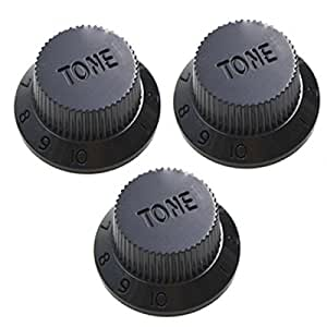 toogoo black 1 volume 2 tone electric guitar control knobs for fender strat guitar. Black Bedroom Furniture Sets. Home Design Ideas