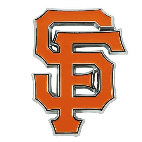 (SLS FANMats San Francisco Giants Premium Solid Metal Color Chrome Raised Auto Emblem Decal Baseball)