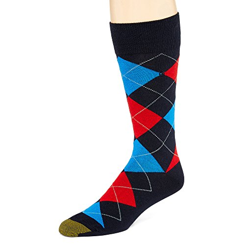 - Gold Toe Men's Socks Argyle Fashion Crew Navy 1pair