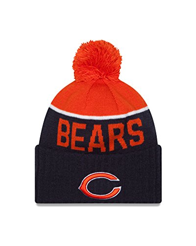 - New Era Chicago Bears 2015 Sport Knit Cuffed Pom Knit Cap/Beanie