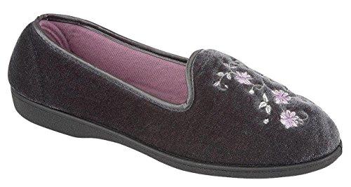 Mocasines Zapatos Slip Botas Flat Four RACHEL Zapatillas Gris Seansons On Ladies Pumps wHqWTgFt