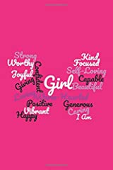 I Am Journal: Girls Pink Positive Thinking Lined Journal/Diary/Notebook with Daily 'I Am' prompts Paperback