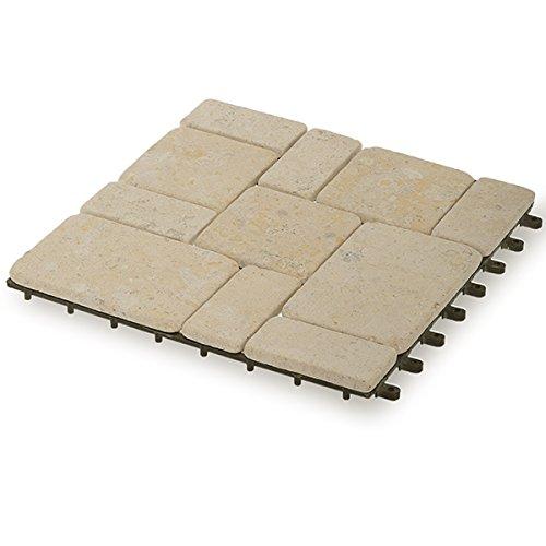 Garden Winds Venetian Stone Deck Tiles, Box of 10 10 Deck Tiles