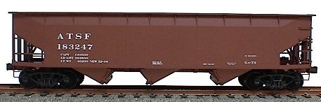 Accurail 7501 HO Atchison, Topeka & Santa Fe AAR 70-Ton Offset-Side 3-Bay (Offset Side Hopper)