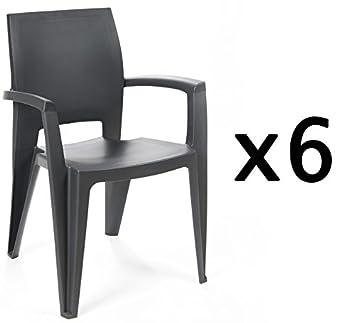 Factoriacentral - Lote de 6 sillones Elegance apilable ...