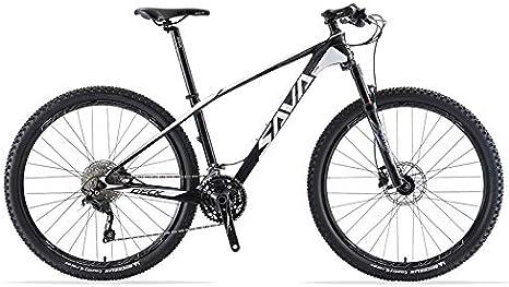 SAVANE Bicicleta Montaña,DECK6.0 Bicicleta de montaña Carbono Ultraligera MTB de 29 Pulgadas con Cola rígida Completa con neumáticos Shimano DEORE M6000 Gpuppreset de 30 velocidades: Amazon.es: Deportes y aire libre