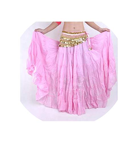 Perfect-Mood belly dance costume 96Cm Length,Pink,One Size -