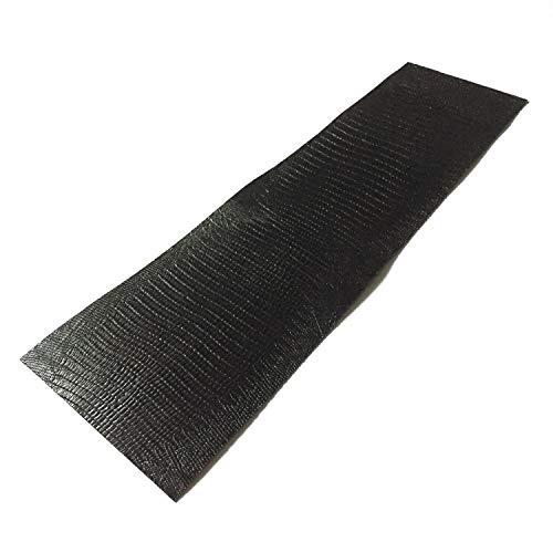 (One(1) Piece Pool Cue Black Lizard Print Embossed Cowhide Leather Wrap )