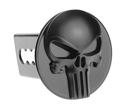 Fantastic Deal! Punisher 3D Black emblem Metal Trailer Hitch Cover Fit 2 receivers