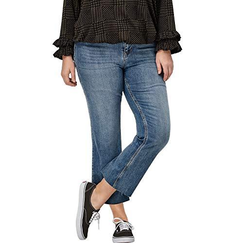Ellos Women's Plus Size Crop Bootcut Jeans - Light Stonewash, 20