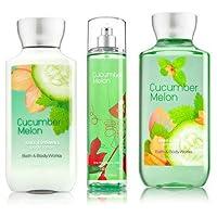 Bath & Body Works Cucumber Melon Gift Set, Body Lotion 8 Fl Oz, Shower Gel 10 Fl...