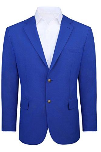 Men's Modern Fit 2 Button Sport Coat Blazer Jacket - Royal, 40 Short