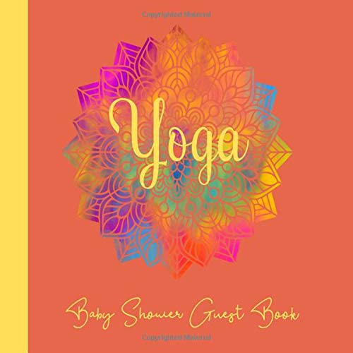Baby Shower Guest Book Yoga: Mandala Theme, Welcome Baby ...