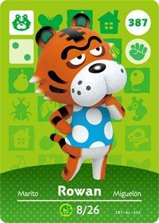Rowan Designer - Rowan- Nintendo Animal Crossing Happy Home Designer Series 4 Amiibo Card -387