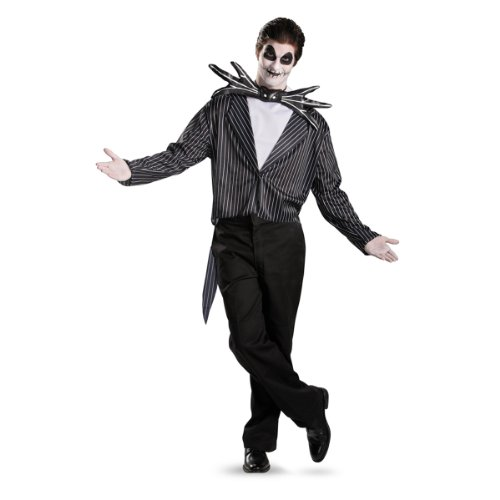 [Disguise Men's Tim Burton's The Nightmare Before Christmas Jack Skellington Classic Costume, Black/White,] (Jack White Halloween Costume)