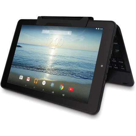 RCA Viking Pro 10.1 2-in-1 Tablet 32GB Quad Core Pink Laptop Computer with Touchscreen and Detachable Keyboard Google Android 5.