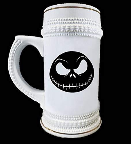 Halloween Nightmare before Christmas Jack Skellington 22 oz Beer Stein Ceramic -
