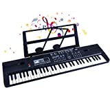 SEMART Kids Piano keyboard Digital electric music keyboard toy for children beginner toddler musical instruments w/microphone USB christmas Birthday gift
